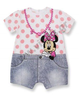 Κοντομάνικο φορμάκι Disney Minnie Mouse 46372 ροζ