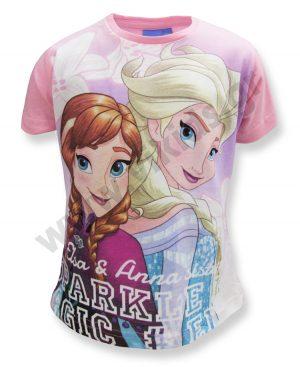 Κοντομάνικο T-Shirt FROZEN Elsa και Anna 464461