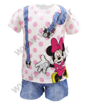 Βαμβακερό πουά σετ Minnie Mouse 46520 ροζ