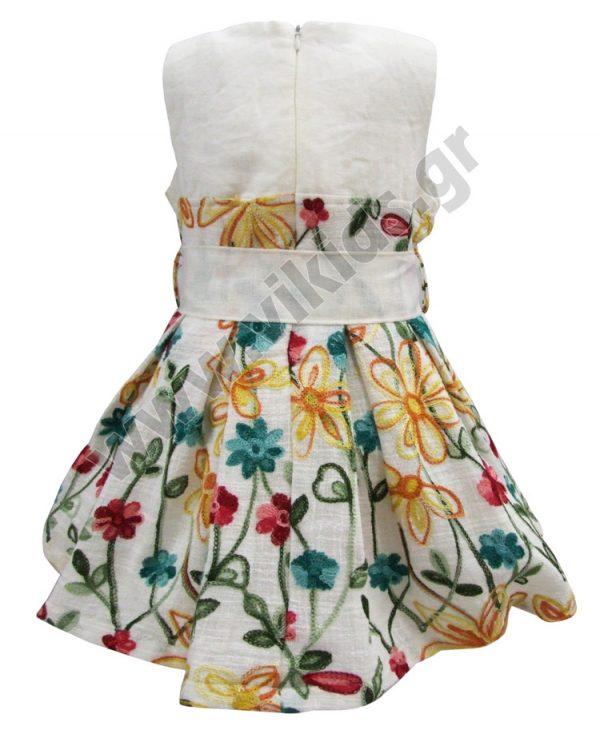 Αμάνικο κεντητό φόρεμα 37733