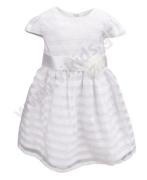 Αμάνικο αμπιγιέ λευκό φόρεμα 65308 Birba