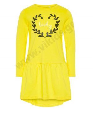Μακρυμάνικο φόρεμα lovely 2140 nameit κίτρινο