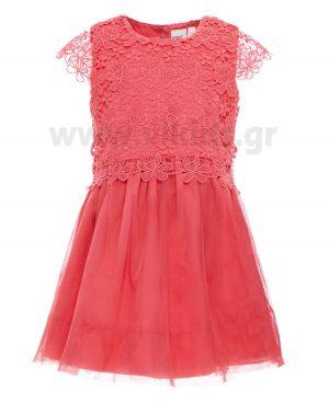 Φόρεμα με δαντέλα και τούλι nameit 4673 καμέλια