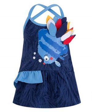 Φόρεμα με ράντες ΨΑΡΑΚΙ tuc tuc 49199