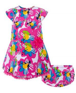 Εμπριμέ φόρεμα NATURE FUSION 49336 tuc tuc