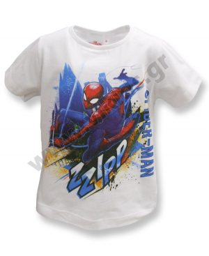 Κοντομάνικο T-Shirt SPIDERMAN ZZIPP 10923 λευκό
