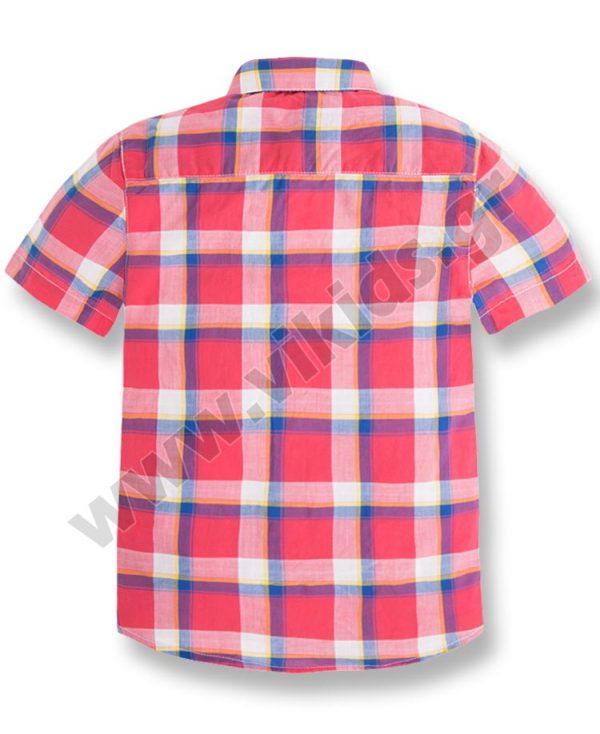 Κοντομάνικο καρώ πουκάμισο mayoral 3153