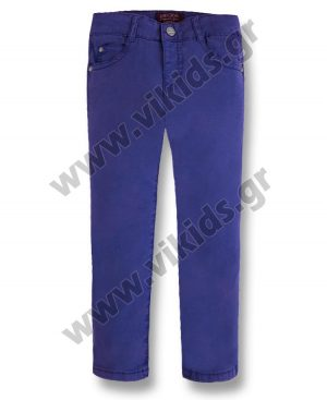 Εποχιακό παντελόνι καπαρντίνα Mayoral 509 μπλε indigo