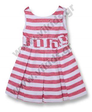 Λινό ριγέ φόρεμα Mayoral 3979 OUTLET
