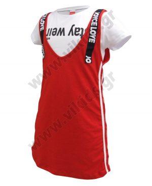 Σετ αμάνικο φόρεμα και μπλούζα 92801 Joyce