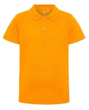 Κοντομάνικη μπλούζα polo nameit 7782 πορτοκαλί