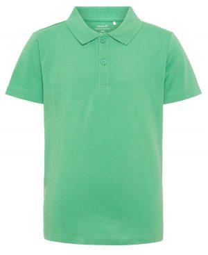 Κοντομάνικη μπλούζα polo nameit 7782 πράσινο