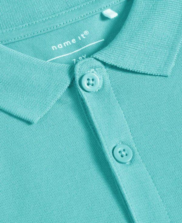 Κοντομάνικη μπλούζα polo nameit 7782 τυρκουάζ