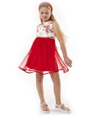 Αμάνικο φόρεμα με τούλι 2009 ebita