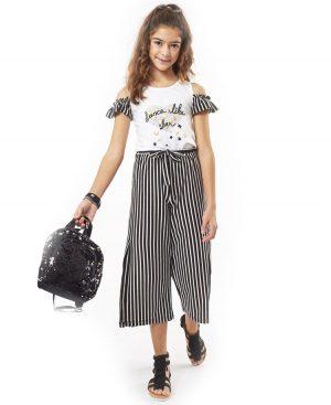 Σετ μπλούζα και ριγέ παντελόνα ebita 2117