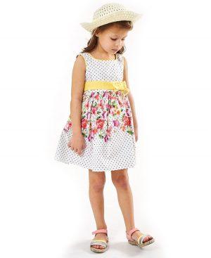 Αμάνικο φόρεμα τζην με κηπούρ ebita 2285