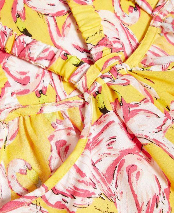 Εμπριμέ φόρεμα με ράντες ΦΛΑΜΙΝΓΚΟ nameit 6223