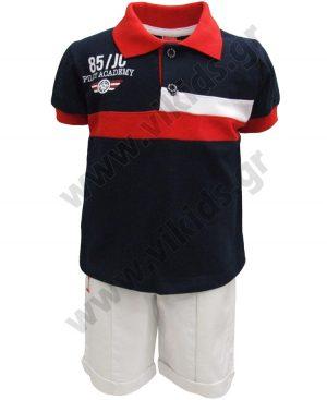 Σετ polo μπλούζα και βερμούδα PILOT ACADEMY 201210