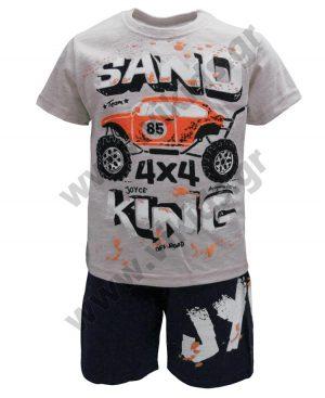 Σετ t-shirt και βερμούδα SAND KING 201263 γκρι