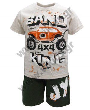 Σετ t-shirt και βερμούδα SAND KING 201263 μπεζ