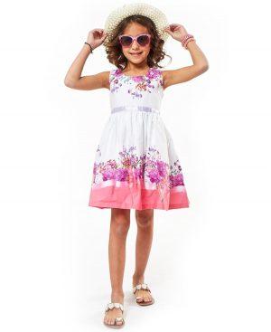 Αμάνικο φλοράλ φόρεμα και καπέλο ebita 2206