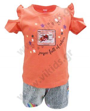 Σετ μπλούζα με leds και εμπριμέ σορτς 201164 Joyce