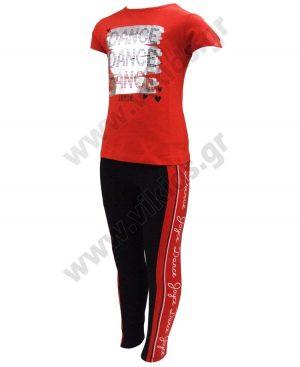 Σετ με t-shirt DANCE και κολάν 201307