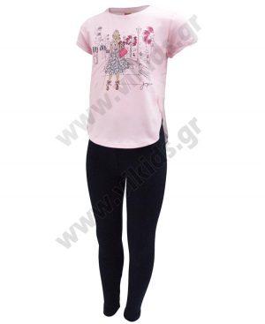 Σετ με t-shirt με glitter και κολάν 201325