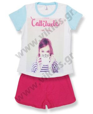 Σετ καλοκαιρινές πυτζάμες Cattitude 17401 Dreams