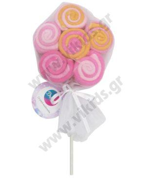 Βρεφικό σετ δώρου με 12 πετσετέ πανάκια 10000 ροζ