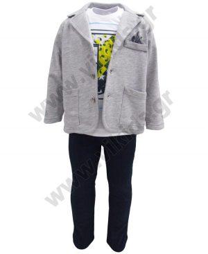 Εποχιακό σετ με ζακέτα-σακάκι t-shirt και παντελόνι 201201 Joyce