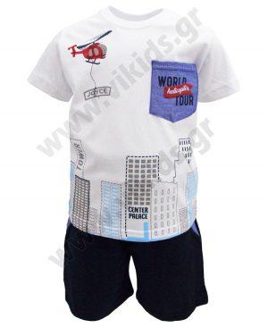 Σετ t-shirt και βερμούδα WORLD TOUR 201238 λευκό