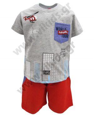 Σετ t-shirt και βερμούδα WORLD TOUR 201238 γκρι