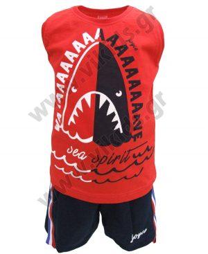 Σετ με αμάνικη μπλούζα SHARK και βερμούδα 201272 Joyce