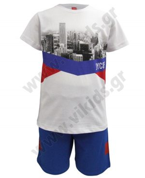 Σετ t-shirt CITY και βερμούδα 201425 Joyce