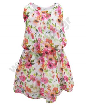 Αμάνικο φλοράλ φόρεμα 201180 Joyce