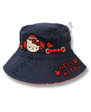 Καπέλο με μπορντούρα HELLO KITTY 4006 μπλε