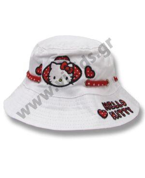 Καπέλο με μπορντούρα HELLO KITTY 4006 λευκό