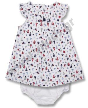 Σετ ναυτικό φόρεμα και βρακάκι Babybol 18070