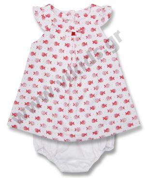 Σετ ναυτικό φόρεμα και βρακάκι Babybol 18071