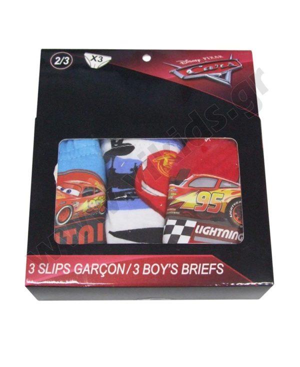 Σετ 3 σλιπάκια Disney CARS McQueen 3017