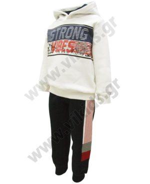 Σετ φόρμες φούτερ με κουκούλα STRONG VIBES 202206