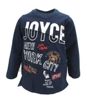 Μακρυμάνικη εποχιακή μπλούζα NEW YORK 202244 μπλε