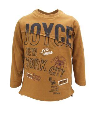 Μακρυμάνικη εποχιακή μπλούζα NEW YORK 202244 καφέ
