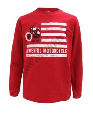 Μακρυμάνικη μπλούζα POWERFUL MOTORCYCLE 202452 κόκκινη