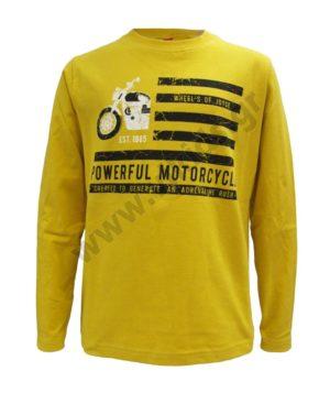 Μακρυμάνικη μπλούζα POWERFUL MOTORCYCLE 202452 κίτρινη