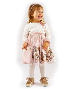 Μακρυμάνικο φόρεμα και λούτρινο τσαντάκι ΕΒΙΤΑ 203291