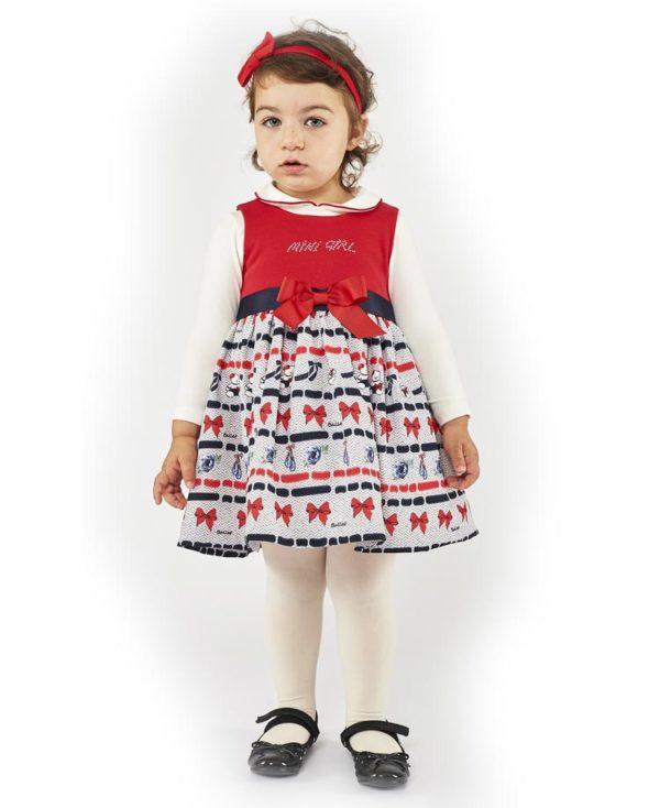 Σετ βρεφικό φόρεμα ΦΙΟΓΚΟΣ και μπλούζα 203538 ΕΒΙΤΑ