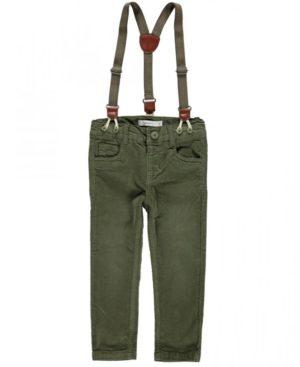 Κοτλέ παντελόνι και τιράντες nameit 9118 για αγόρια
