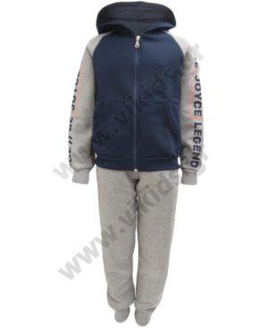 Φόρμες φούτερ με ζακέτα και κουκούλα LEGEND 202402 γκρι